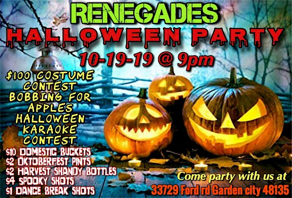 Halloween Party, October 19th @ 9:00 PM