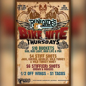 Bike Night Thursdays at Renegades!