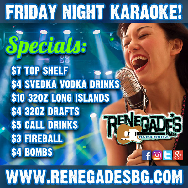 Friday Night Karaoke Specials